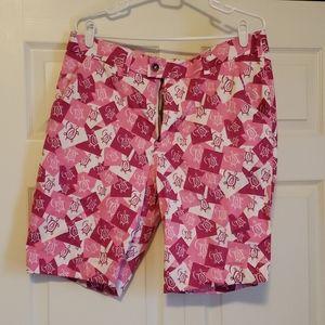 Men's Loudmouth Seaturtle print Golf Shorts
